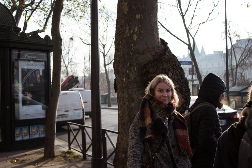 Heimsóknin til Aldísar í París.